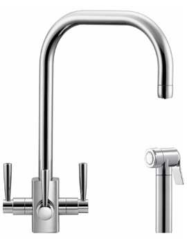 Franke FilterFlow Kubus Chrome Kitchen Sink Tap With Hand Spray