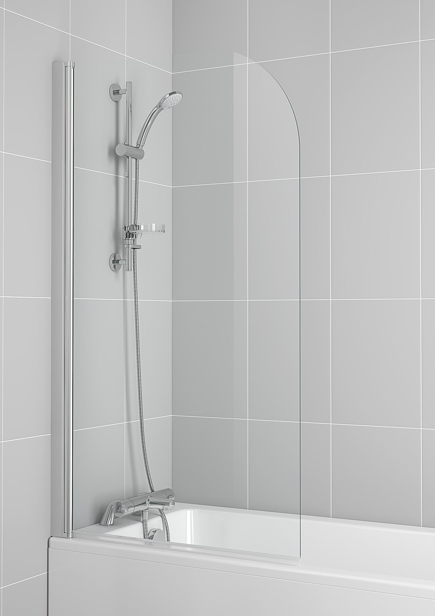 Ideal Standard New Connect Radius Bath Screen 800 X 1400mm