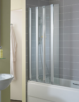 Ideal Standard New Connect 4 Panel Folding Bath Screen