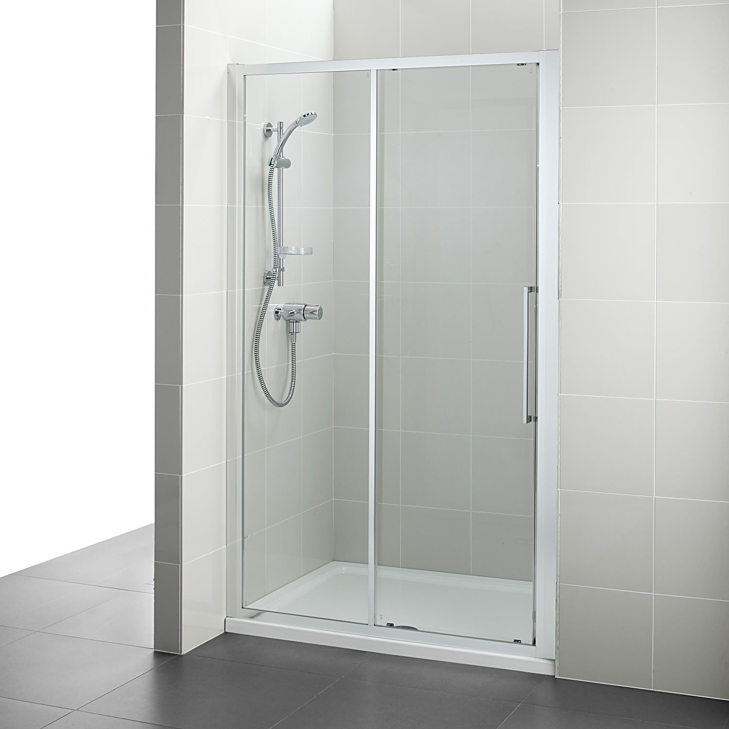 Ideal standard kubo 1200mm slider shower door for 1200mm shower door sliding