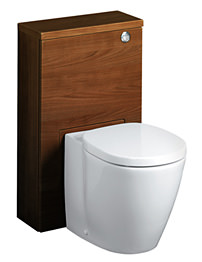 Ideal Standard Concept Slimline 50cm WC Unit - Dark Walnut
