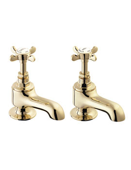 Deva Coronation Gold Plated Pair Of Bath Tap