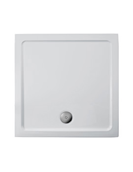 Ideal Standard Simplicity 1000mm Flat Top Square Shower Tray With Waste