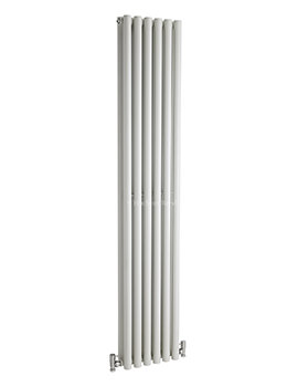 Hudson Reed Savy 354x1800mm Double Panel Vertical Radiator - White