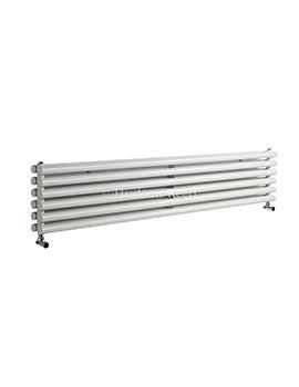 Hudson Reed Savy 1800x354mm Double Panel Horizontal Radiator - White