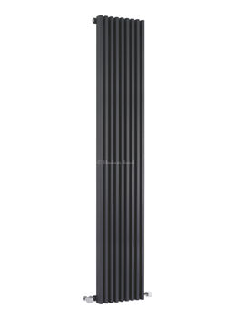 Hudson Reed Parallel 342x1800mm Vertical Radiator - Anthracite