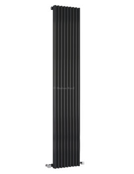 Hudson Reed Parallel 342x1800mm Vertical Radiator - Black