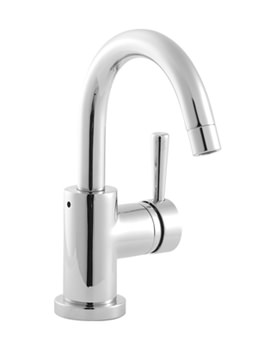 Twyford Siron Monobloc Basin Mixer Tap With Push Button Waste