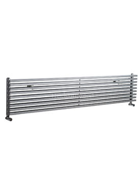 Hudson Reed Parallel 1800x342mm Horizontal Radiator - Silver