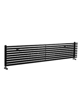 Hudson Reed Parallel 1800x342mm Horizontal Radiator - Black