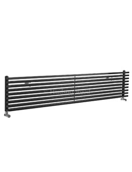 Hudson Reed Parallel 1800x342mm Horizontal Radiator - Anthracite