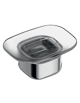 Ideal Standard Softmood Frosted Glass Soap Dish And Holder
