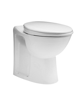 Twyford Avalon Back-To-Wall WC Pan With Horizontal Outlet 560mm