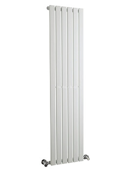 Hudson Reed Sloane 354x1800mm Single Panel Vertical Radiator - White