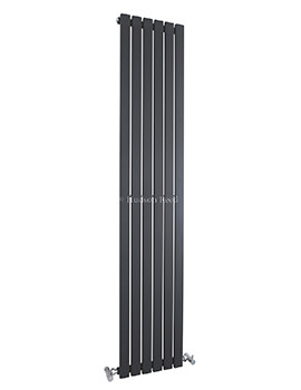 Hudson Reed Sloane 354x1800mm Single Panel Vertical Radiator - Anthracite