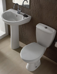 Twyford Option White Cloakroom Suite