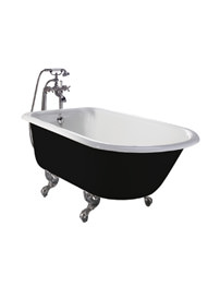 Heritage Wessex Cast Iron Freestanding Roll Top Bath With Feet