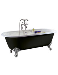 Heritage Baby Buckingham No Taphole Freestanding Roll Top Bath With Feet
