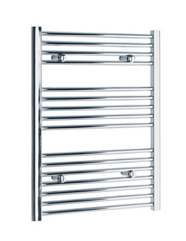 Tivolis Straight Heated Towel Rail 400 x 800mm - Chrome