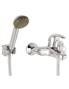 Twyford Aquations Premiere 2 Hole Wall Mounted Bath Shower Mixer Tap