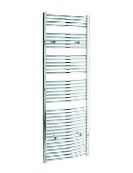 Tivolis Curved Heated Towel Rail 450 x 1800mm - Chrome