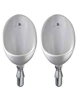 Twyford Clifton Two Urinal With Concealed Flushpipes And Cistern