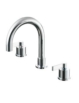 Ideal Standard Silver Dual Control Bath Filler Tap