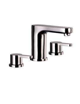 Mayfair Eion 3 Hole Basin Set With A Click Clack Waste Chrome