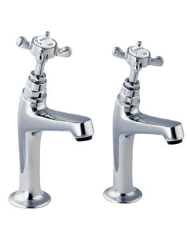 Deva Coronation 1/2 Inch High Neck Kitchen Sink Taps Chrome