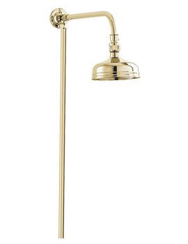 Deva Period Style Rigid Riser Shower Kit Gold Plated