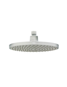 Deva Chrome Plated 8 Inch Round Fixed Shower Head With Swivel Joint
