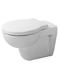 Duravit Bathroom Foster Wall Mounted 570mm Toilet With Seat And Cover
