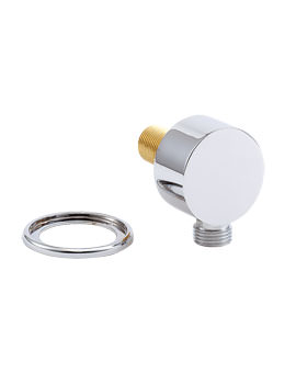 Deva Round Wall Union Chrome