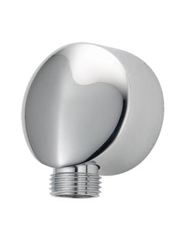 Deva Round Chrome Wall Union With Ridge