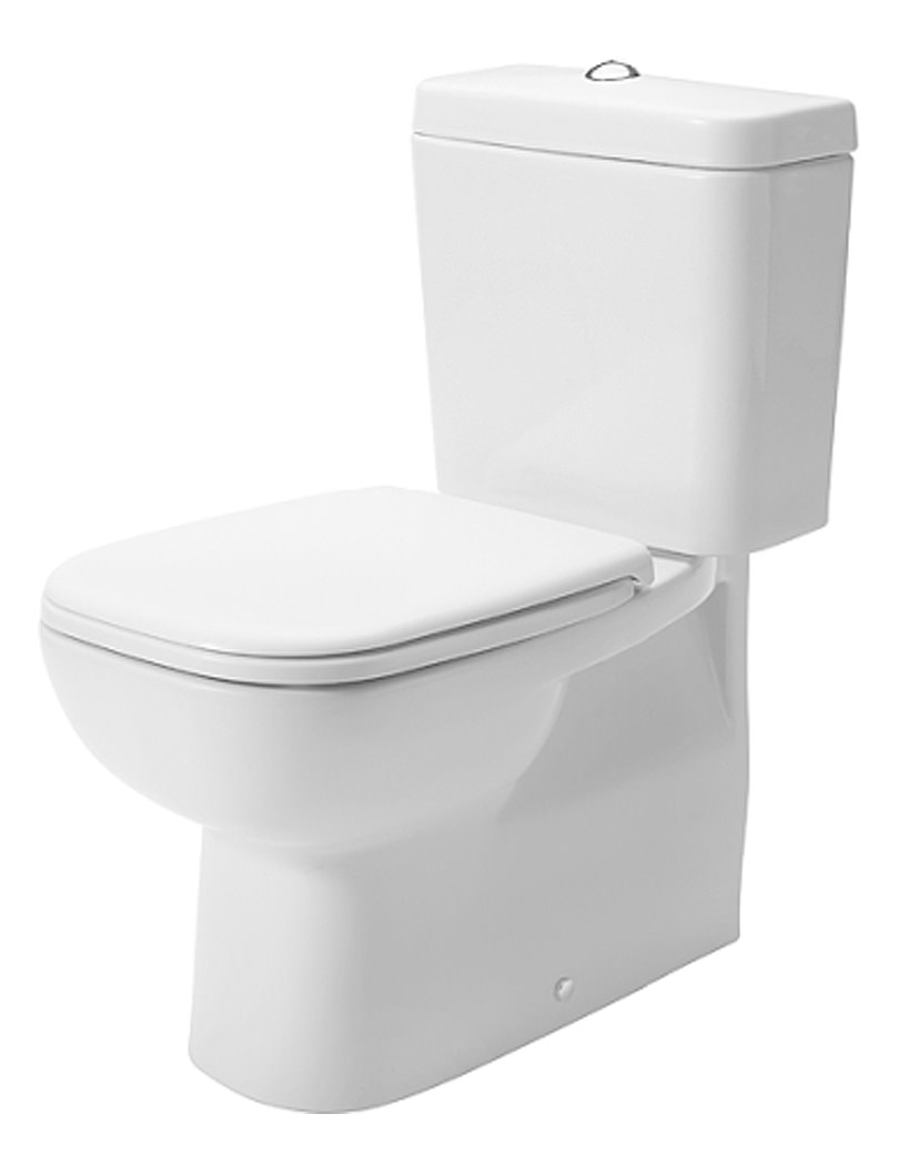 Wc brand new duravit d code white 650mm close coupled toilet and