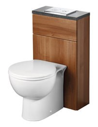 Ideal Standard Space WC Unit 450mm With Cistern - Walnut Finish
