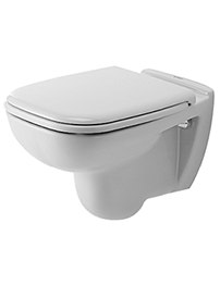 Duravit D-Code White Wall Mounted Toilet 355 x 540mm