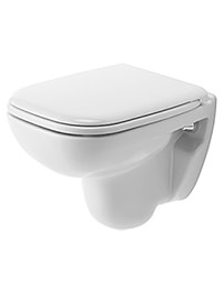 Duravit D-Code White Compact Wall Mounted Toilet 350 x 480mm
