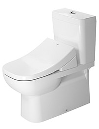 Duravit D-Code White Close Coupled Toilet And Cistern With SensoWash Seat