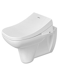Duravit D-Code White Wall Mounted Toilet With SensoWash Seat