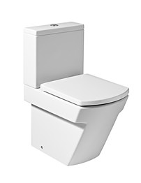 Roca Hall Moulded BTW Close Coupled WC With Cistern And Soft Close Seat