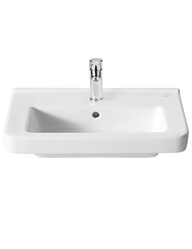 Roca Dama-N 600 x 320mm Compact Wall Hung Basin With 1 Tap Hole