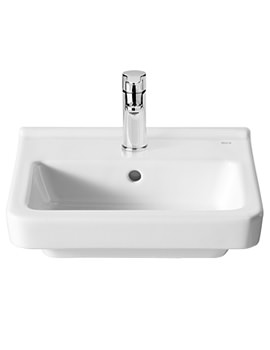 Roca Dama-N 400 x 320mm Compact Wall Hung Basin With 1 Tap Hole