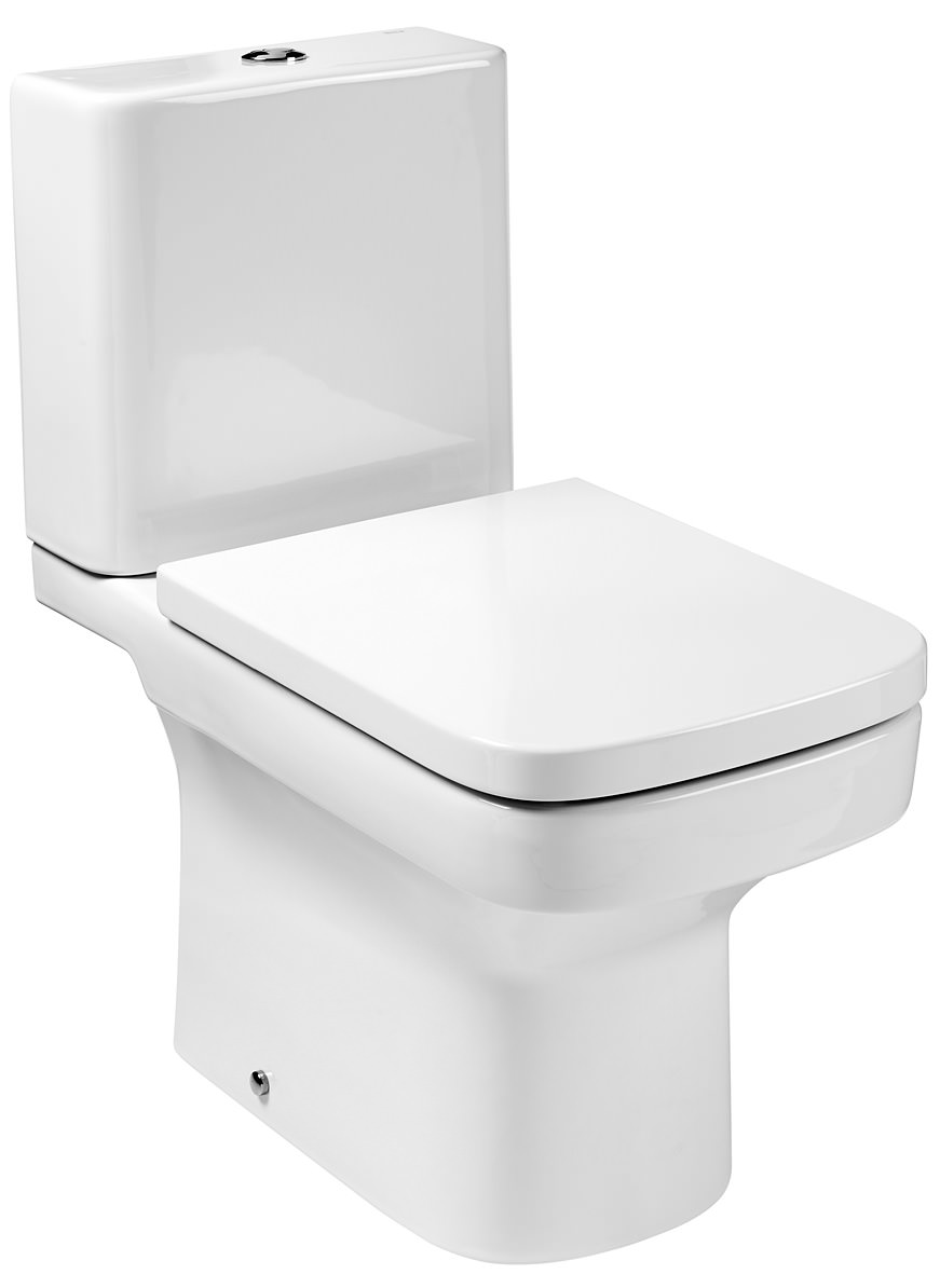 Roca dama n open back close coupled eco wc pan with for Roca dama toilet