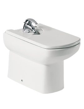 Roca Senso Floor Standing Over Rim Bidet With 1 Tap Hole