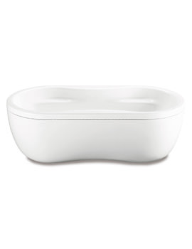 Kaldewei Avantgarde Mega Duo Oval 184-7 Freestanding Double Ended Steel Bath