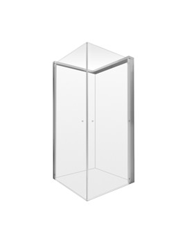 Duravit OpenSpace 785x785mm Transparent Glass For Right Tap Shower Screen