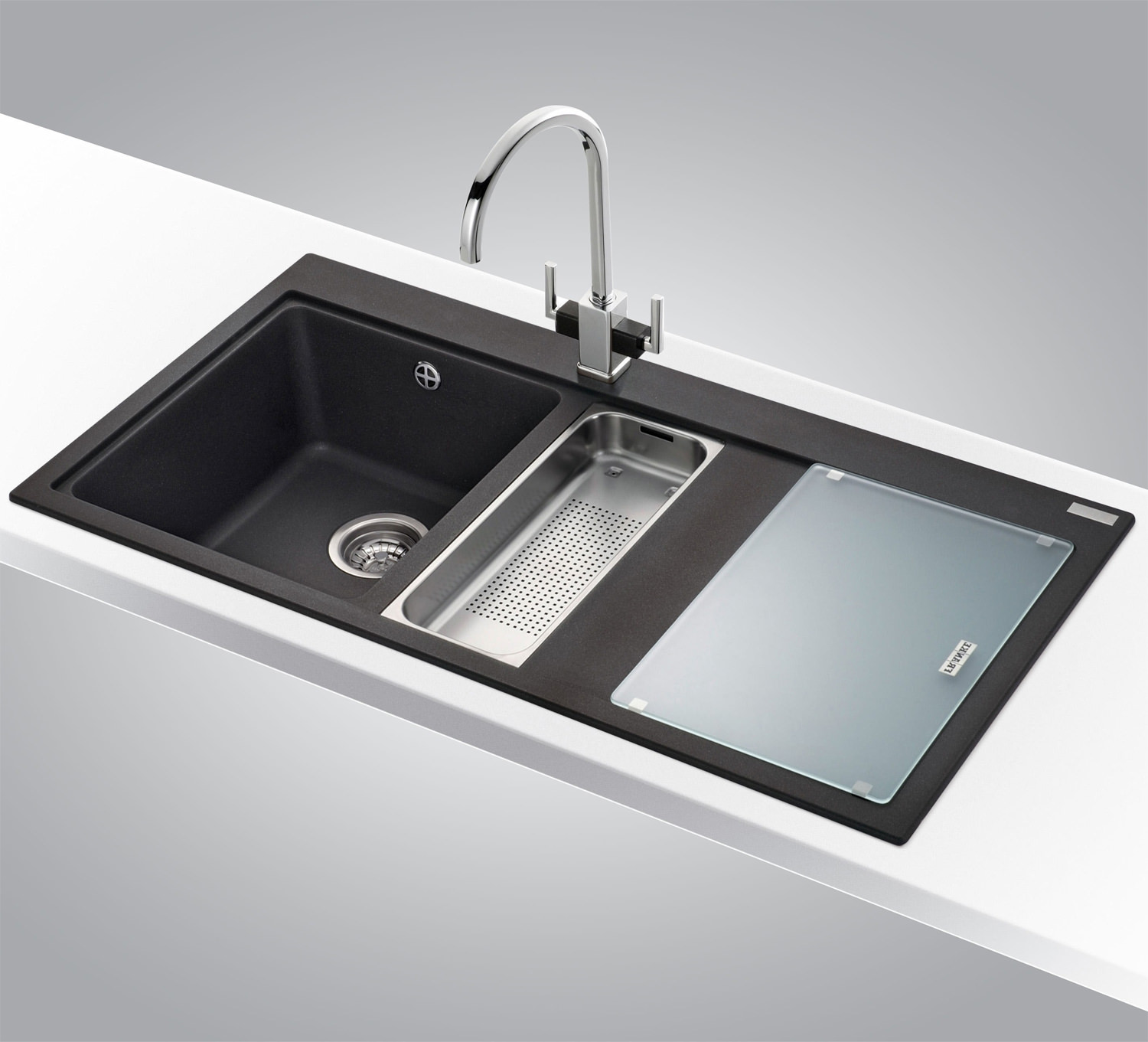 Franke Mythos MTG 651-100 DP Fragranite 1.5 Bowl RHD Sink And Tap