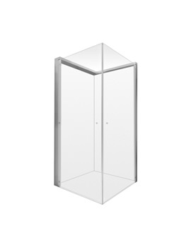 Duravit OpenSpace 985x985mm Transparent Glass For Left Tap Shower Screen