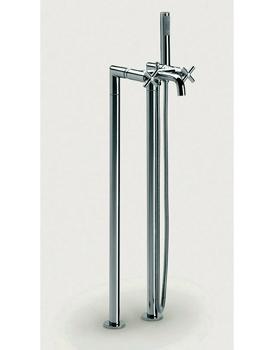 Roca Loft Floor Standing Bath Shower Mixer Tap With Kit